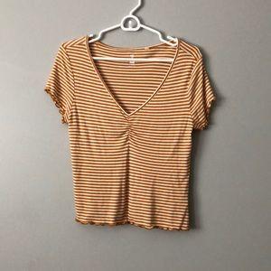 Pacsun ruffled striped shirt
